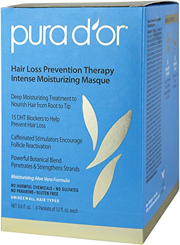 PURA D'OR Hair Loss Prevention Therapy Intense Moisturizing Masque, 12 Fluid Ounce by PURA D'OR