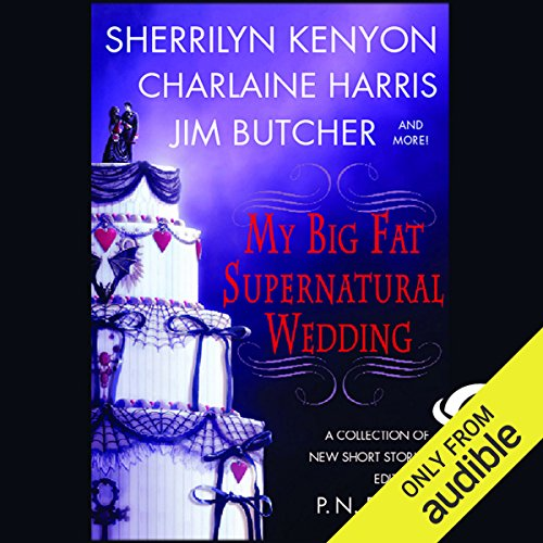 My Big Fat Supernatural Wedding                    By:                                                                                                                                 Sherrilyn Kenyon,                                                                                        Charlaine Harris,                                                                                        Jim Butcher,                   and others                          Narrated by:                                                                                                                                 Nancy Wu,                                                                                        Christian Rummel,                                                                                        Elisabeth Rodgers,                   and others                 Length: 11 hrs and 23 mins     38 ratings     Overall 3.9