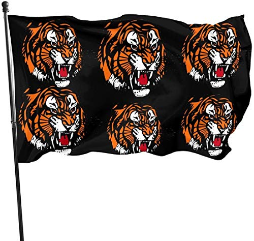 Oaqueen Flagge/Fahne Tiger Png Watercolor Fahnen Flaggen Durable Fade Resistant Decorative Flags Premium Flag with Grommets Polyester Deluxe Outdoor Banner for All Seasons & Holidays- 3X5 Ft