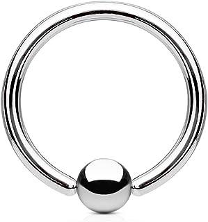 Titan 3mm herradura anillo oreja tabique pecho Intim piercing circular barbell