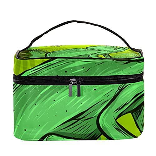 Hermosa bolsa organizadora de viaje con paisaje tropical para mujeres y niñas, bolsa de aseo multifuncional para mujeres y hombres