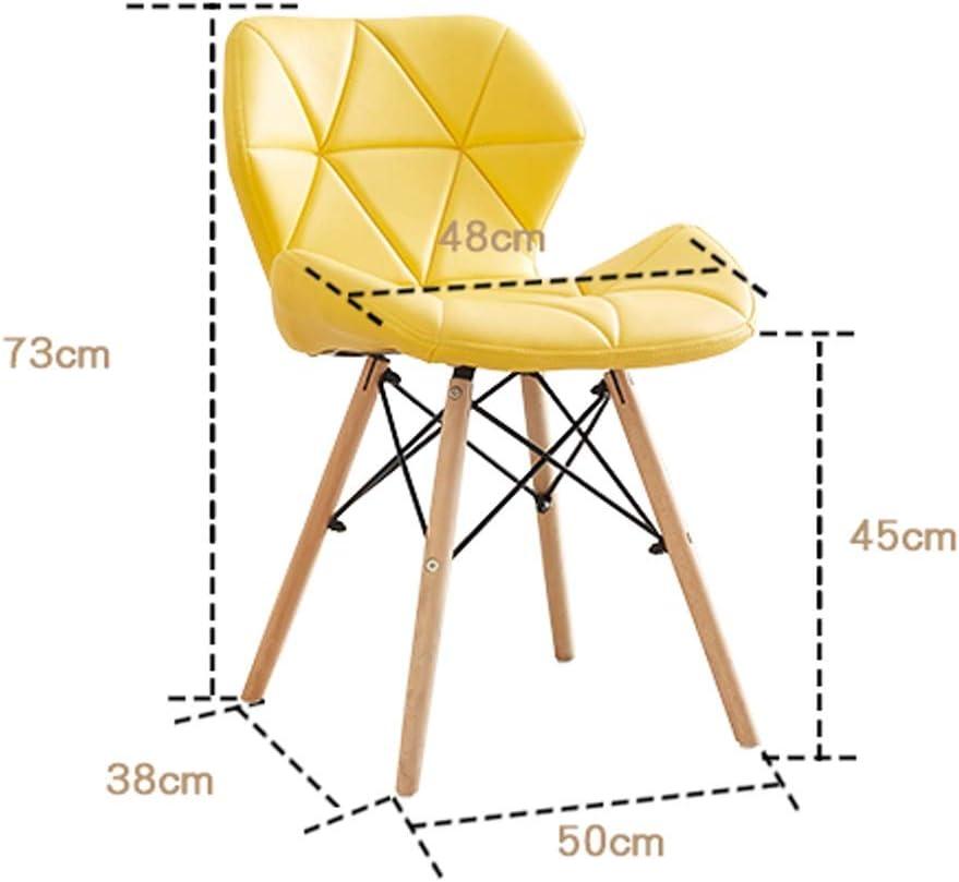 SLL- Chaise de Salle, Chaise de Bureau Simple, créative Dossier, Chaise Loisirs, Maison Adulte Chaise de Salle Moderne (Color : Green) Yellow