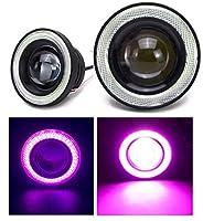 Kstyle ピンク 3.5 LED フォグランプ 汎用 イカリング 付き 30w 高性能 COB 防水 左右 2個 セット 4個 アクアリウム うちわ ういんカー ウインカーリレー 3ピン t20 ウェッジ球 極性フリー 2ピン ed くるま クルマ クルマ用 加工 車内 くるくる さくら 18w サングラス 10w 車内灯 イルミネーション h11 室内 シガー (3.5インチ-89mm)