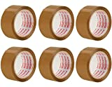 Packatape 6 Rollos Cinta Embalar Adhesiva 48MMx 66M...