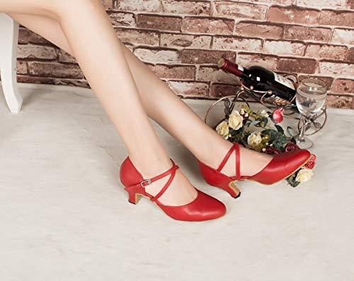 Minitoo ,  Damen Tanzschuhe , Rot – rot – Größe: 39 - 7