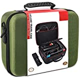 COOWPS Hard Carrying Case for Nintendo Switch, Portable Storage Travel Case fit Switch Console Pro Controller & Accessories, Green