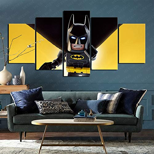 CAFO The Lego Batman Movie 2 5 Panel Painting Wall Poster Living Room Decoration 100 x 50 cm