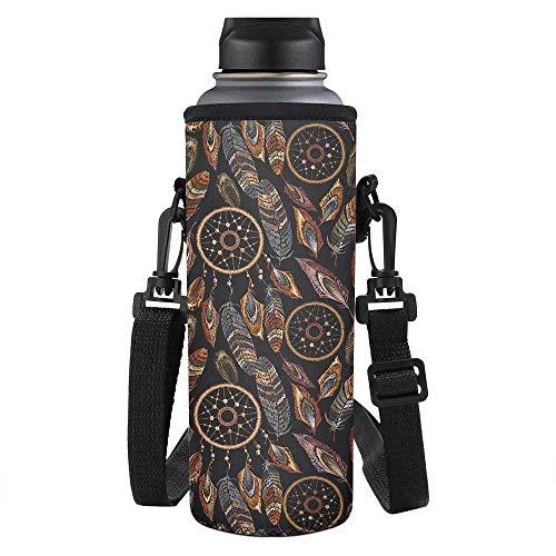 SEANATIVE Bolsa de neopreno aislante para botellas de agua con diseño de atrapasueños, para adultos y niños