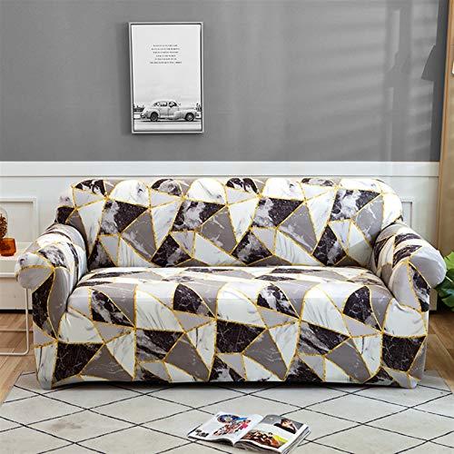 kengbi Funda de sofá duradera y fácil de limpiar a cuadros para sofá de salón, funda de sofá de 1/2/3/4 plazas