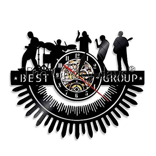 FDGFDG Beste Gruppe Musik Band Schallplatte Wanduhr LED Symbol Mann Höhle Beleuchtung Bar Zeichen Stimmungslampe Rockmusik Fans Geschenk