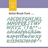 Xyron Artist-Brush-Font Design Book for Xyron Personal Cutting System