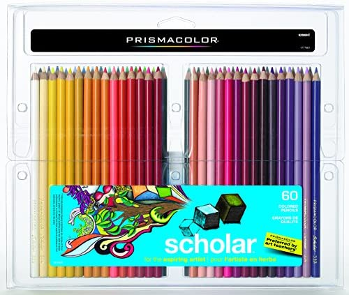 Prismacolor 92808HT Scholar Colored Pencils, 60-Count