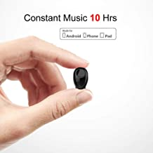 Bluetooth Earbud 10 Hrs Playtime, Single Wireless Earphone, Mini Bluetooth Headset Hands-Free Car Headphone, Cell Phone V4.1 Bluetooth Earpiece for iPhone Samsung Android Phones PC TV Audiobook
