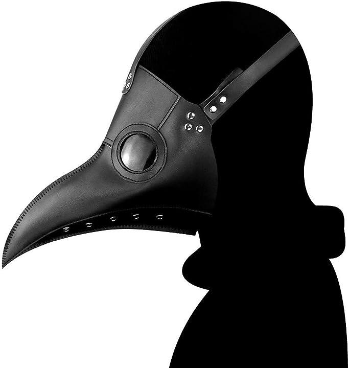 Maschera a forma di becco dei medici della peste - maschera carnevale - ulalaza TT10092/black