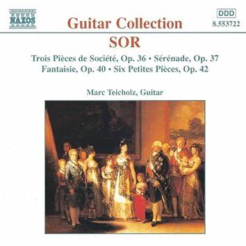 SOR: 3 Pieces de Societe, Op. 36 / 6 Petites Pieces, Op. 42