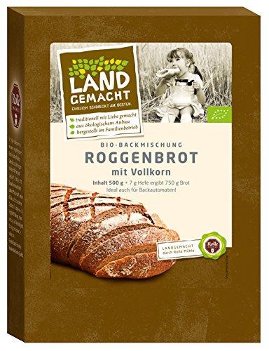 500g Bio Roggen Brot - Rolle Mühle - Bio Brotbackmischung -