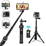 Best GoPro Compact Selfie Sticks - Selfie Stick, All in one Portable 45 Inch Review