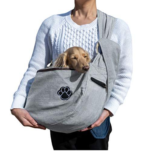 ドッグスリング ペットスリング 小型犬 抱っこ紐 肩掛けタイプ ケガ対策 ポケット付き メッシュ 10kg 中型...