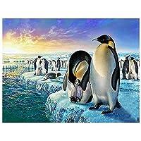 5Dダイヤモンドペインティングダイヤモンド刺繍ペンギンアニマルDiyハンドインレイドクリスタル50x60cm