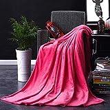 Phoeni Kuscheldecke Sommerdecke Luftige Sofa-Decke Flauschige Kuscheldecke Hochwertige Wohndecke Super Weiche Fleecedecke als Sofaüberwurf Tagesdecke oder Wohnzimmerdecke Ziegelrot 1.8X2M