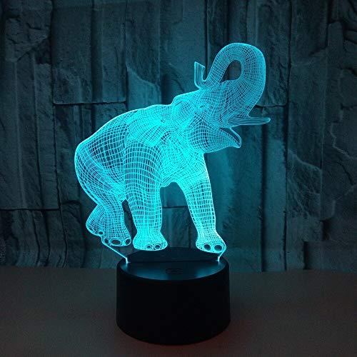 Elephant 3D Nightlight Bunte Touch LED-Lampe USB-Netzteil Geschenke LED Nightlight 3D-Leuchten