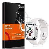 MP-MALL Lot de 6 films protecteurs d'écran compatibles avec Apple Watch Series 6/5/4 40 mm Apple Watch SE, sans bulles iWatch 40 mm Film TPU souple