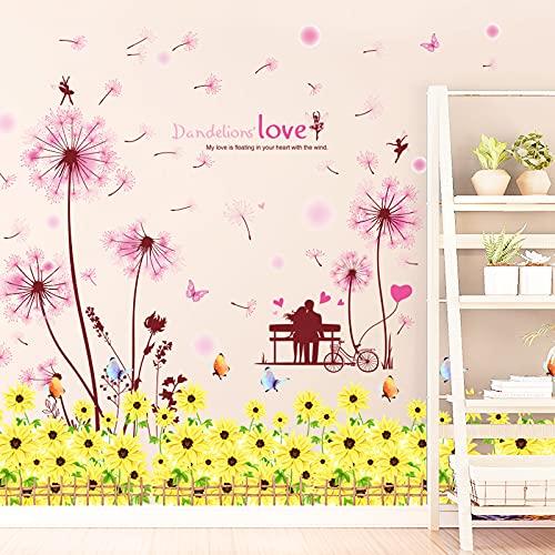 YMXDXTY Decoración de la habitación Dientes de león estética Flores Pegatinas de...