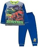 Dinotrux Jungen Schlafanzug blau blau Gr. 9-10 Jahre, Dinotrux - 3 Character
