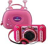 Vtech 80-520099 80-520099-KidiZoom Duo DX - Cámara Infantil (Incluye Bolsa de Transporte), Color Rosa