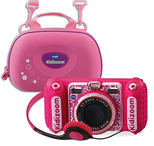 Vtech 80-520099 80-520099-KidiZoom Duo DX inkl. Tragetasche pink Kinderkamera