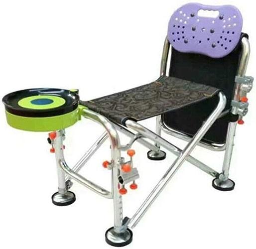 LZYZZZ Chaise de pêche en Plein air Fournitures de pêche Chaise Pliante Portable, Noir, 50X32X56CM