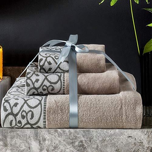 CICI 3pcs / Set Tela de algodón Suave Set Beach Cara Toalla de baño Ducha WC Body Glove Regalos del diseñador de Moda para Adultos Inicio del Hotel, Toallas de Secado rápido