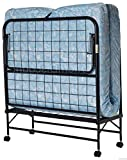 Selva Twin Folding Bed Cot | Portable Foam Mattress Guest Roll Away Comfortable Sleeper for Camping Outing Fire Camp Bedroom Living Room Outdoor Easy Caster | Heavy Duty Transport Durable Metal Frame
