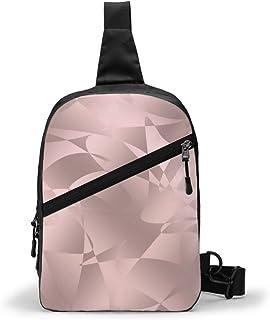 Bonito paquete de pecho de oro rosa multipropósito Crossbody al aire libre bolsa de hombro mochila mochila de gran capacidad casual deporte mochila para senderismo viaje deporte