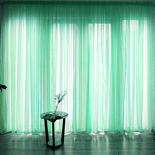 Embroidered Yarn Curtains, Linen-Looking Curtains, Sheer Curtains, Decorative mesh Curtains for Kitchens,2x2.7MRod Hole
