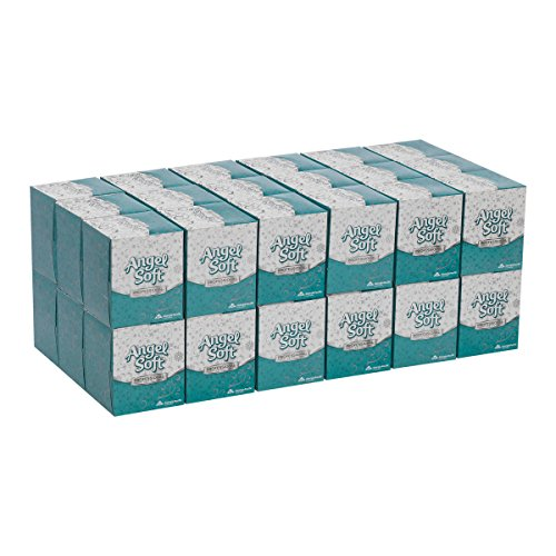 GeorgiaPacific Angel Soft Professional Series 2Ply Facial Tissue by GP PRO GeorgiaPacific  Cube Box 46580 96 Sheets Per Box 36 Boxes Per Case White 53quot x 44quot x 44quot x 880quot x 760quot