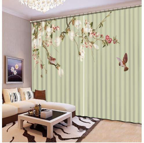 cortinas opacas flores dormitorio