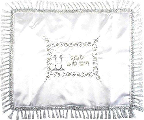 Bestickte Challa-Decke SCHABBAT- und Feiertagskerzen Judaica Israel Geschenkidee