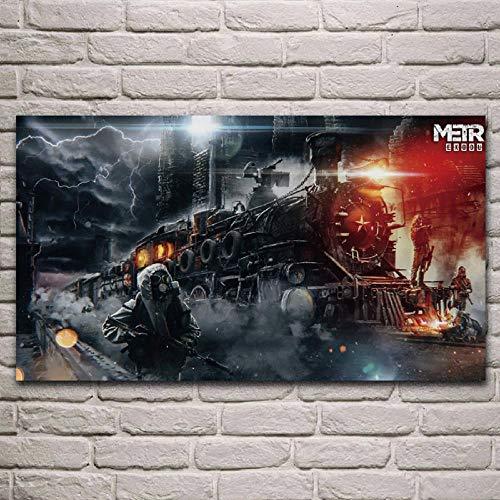Modern Leinwand Malerei Metro Stalker Bahnhof Nacht Spiel Fan Kunstwerk Wohnzimmer Dekor Home Wandkunst Dekor Poster 50 * 75cm