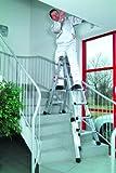 Vario - Escalera plegable (aluminio, 4 x 4 peldaños)