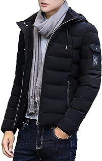 Respeedimeンズ ファッション 冬 服 カジュアル フード付き ジャケット ダウン コート アウター 防寒着,超軽量
