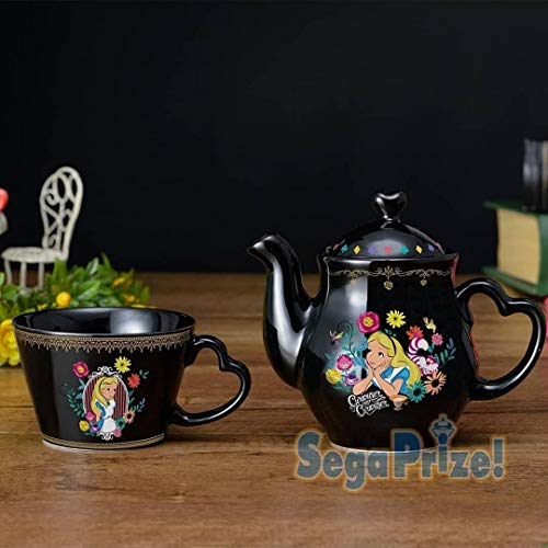 JAPAN OFFICIAL Juego de tetera y taza de té de 18 cm de Alicia in Wonderland de Disney Cinema #1
