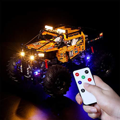 TETAKE Licht Beleuchtung LED Beleuchtungsset für Lego Technic 42099 - 4x4 X-Treme Off-Roader (Nicht Enthalten Lego Modell)