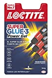 Loctite Super Glue-3 Power Flex Mini Trio, gel adhesivo flexible y resistente, pegamento instantáneo para superficies...