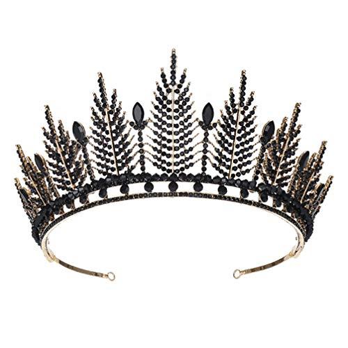 Lurrose Corona Nupcial Coronas de Tiara de Cristal Princesa Elegante Corona Mujeres...