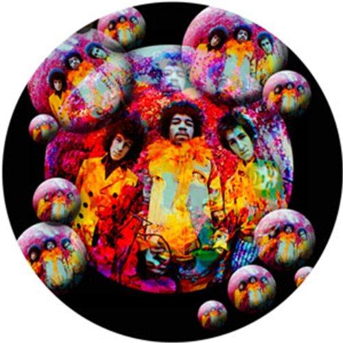 "JIMI HENDRIX Bubbles, Officially Licensed Original Artwork, 4"" x 4"" - Sticker Aufkleber DECAL"