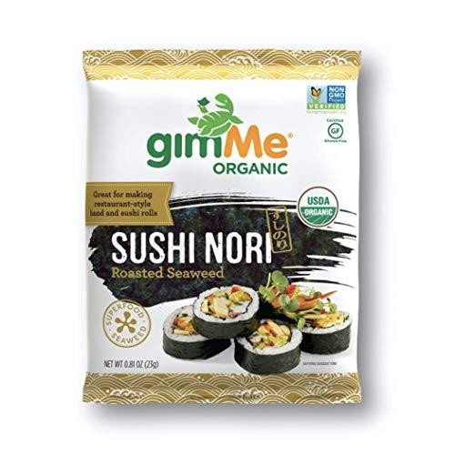 gimMe Organic Roasted Seaweed - Restaurant-style Sushi Nori - 0.81 Ounce