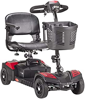 Drive Medical Spitfire Scout 4-EXT 4 Wheel Travel Power Scooter with Extended 15 Mile Range Battery