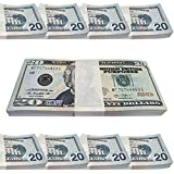 Gzar Movie Prop Money, Full Print 2 Sided Copy Realistic Money 2000 Dollar Bills for Movies, TV, Music Videos Teaching and Birthday Party, Looks Real Play Money