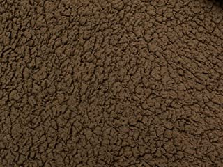 SyFabrics minky sherpa lambs wool fabric 58 inches wide Brown